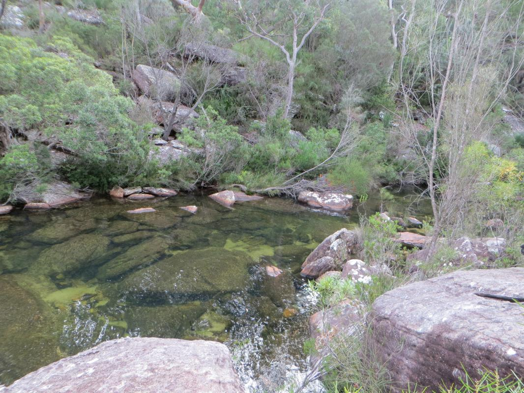 Main waterfall and pool along Kangaroo Creek